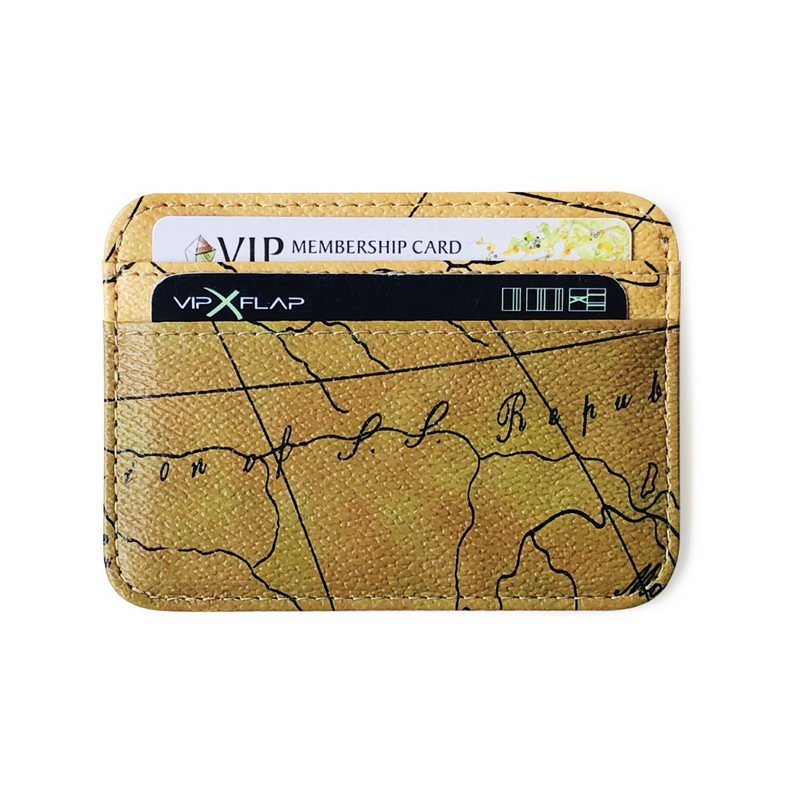 KANDRA Новое поступление карты печать кожа кредитные карты ID Держатели для женщин простые тонкие винтажные карты бизнес карты сумки для мужчи...