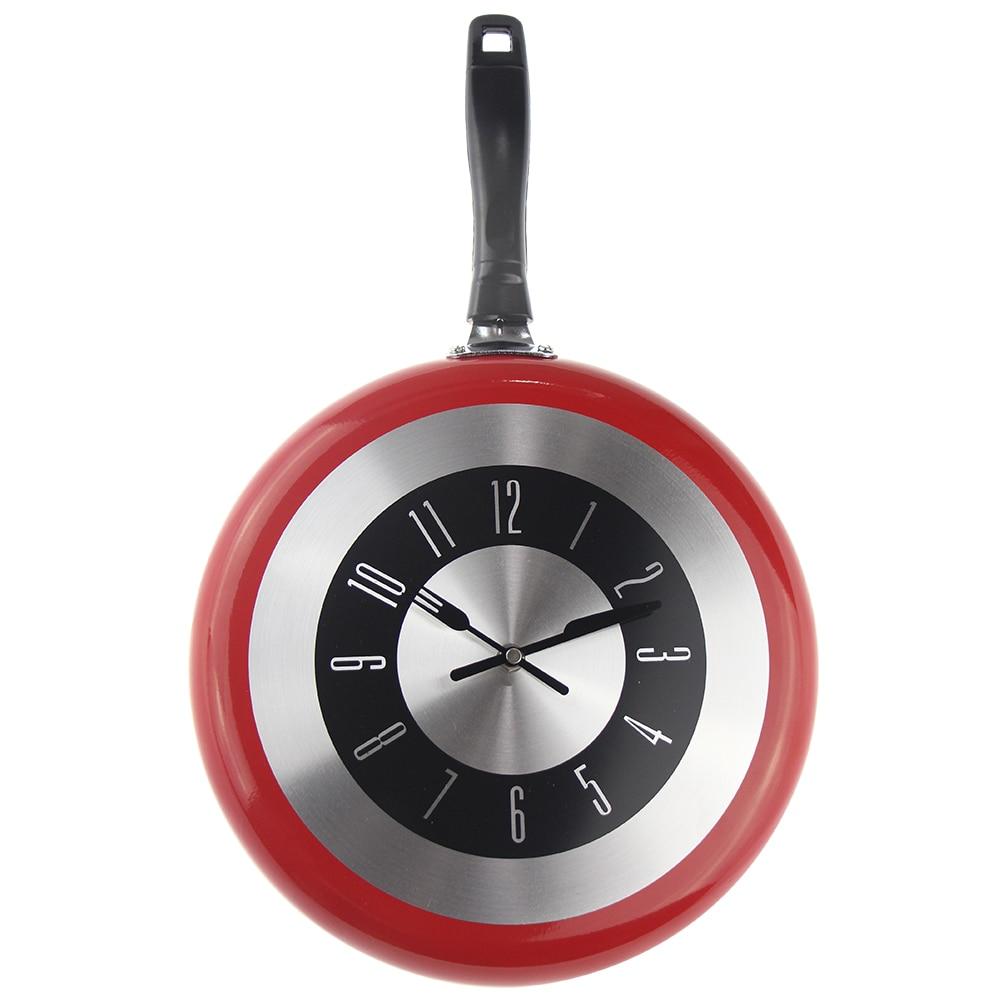 Wanduhren-ساعة حائط معدنية ، 12 بوصة ، تصميم حديث ، مثالية للمطبخ والقلي والديكور المنزلي