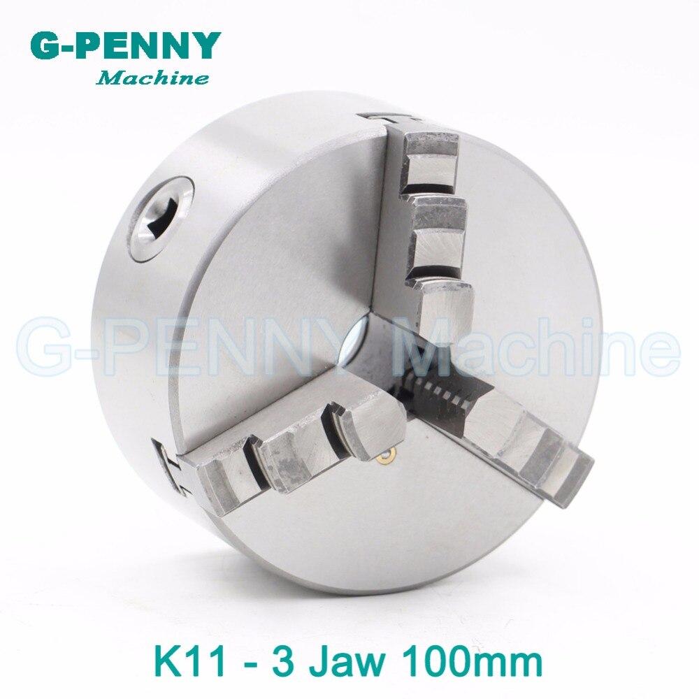 CNC 3 4th eixo eixo A 100mm mandíbula mandíbula Mandril auto-centralização do mandril manual K11 quarta para CNC máquina de gravura fresadora Torno