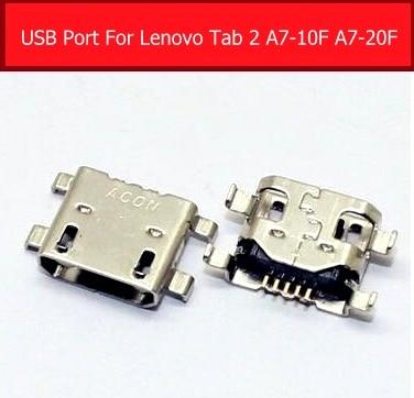 100% подлинное USB зарядное устройство гнездо для Lenovo TAB 2 A7-20F A7-10F синхронизация Дата зарядный порт USB разъем Слот Запасные части