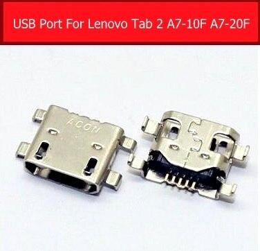100% echte USB ladegerät jack buchse Für Lenovo TAB 2 A7-20F A7-10F Sync datum lade port USB stecker slot ersatz teile