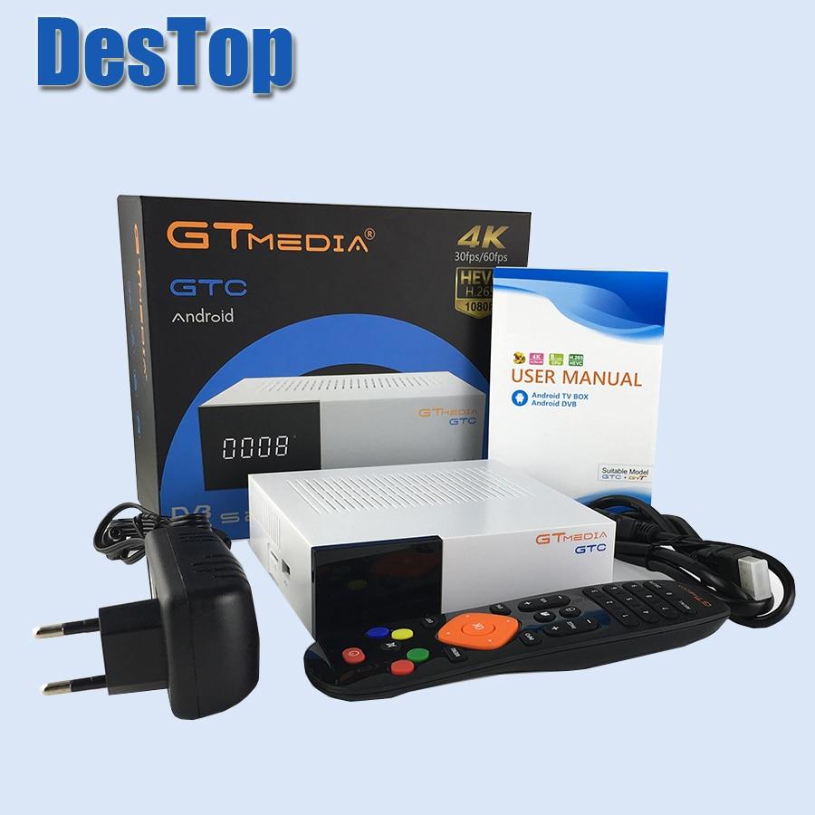 Gtmedia GTC 4K Android tv box DVB-C Cable Youtube DVB-S2 DVB-T2 Bluetooth 4.0 Receptor Satellite receiver Tv Tuner Biss VU