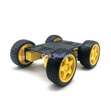 Diy robô 4wd carro chassi mini c10 com quatro tt roda do motor, para arduino uno r3 kit de ensino educacional diy