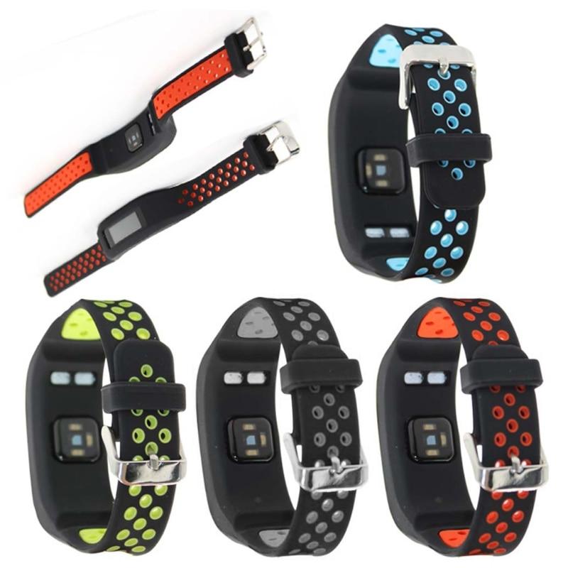 Pulseira de relógio de silicone oco, pulseira para garmin vivosmart hr