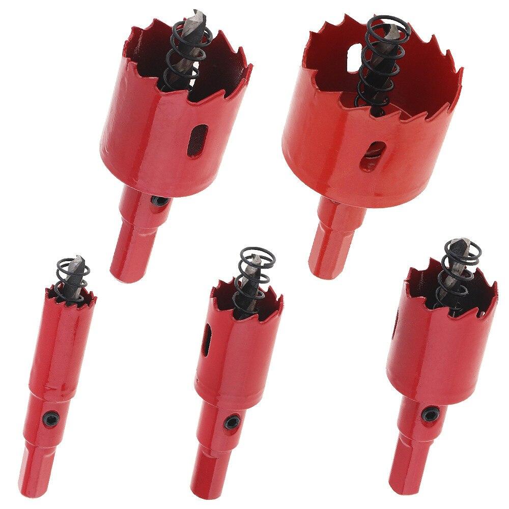 5 unids/lote M42 juego de brocas bimetálicas para corte de agujeros, herramienta de corte de agujero de perforación de madera de metal, juego de brocas para carpintería 15/20/25/30/40mm