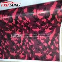 new car styling stickers small texture red camouflage car wrap film with air bubble auto stickers camo vinyl foil cover
