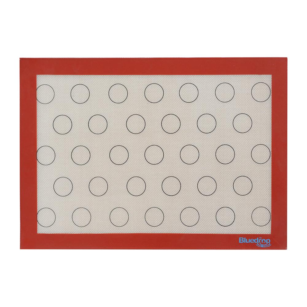 Hojas para hornear de silicona de Bluedrop hojas de galletas de macaron revestimiento de horno antiadherente para bandeja de media hoja de EE. UU. 29,5x42 cm