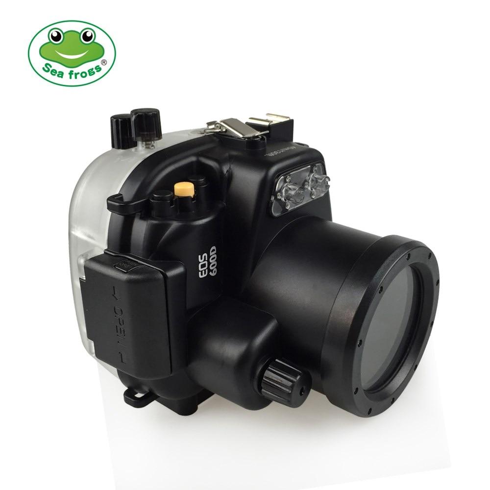 غطاء مقاوم للماء لكاميرا كانون EOS 600D ، حقيبة واقية ، للغوص ، الرياضة ، السباحة ، الانجراف ، الكاميرا