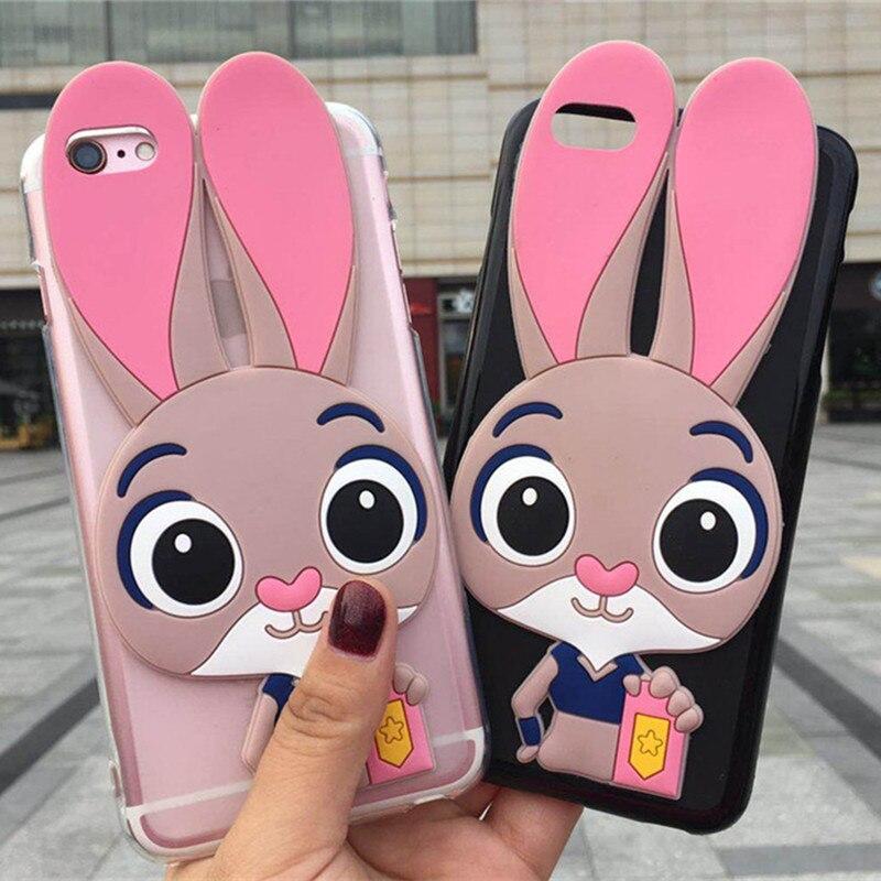 De conejo de dibujos animados teléfono casos para Motorola Moto G5S G5 E4 G4 X4 Plus M UE nos Dama Rosa cubierta funda protectora