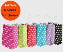 40PCS/lot gift bag kraft paper gift bag with handles 21*15*8cm Hotsale Festival gift bags DIY multifunction shopping bags