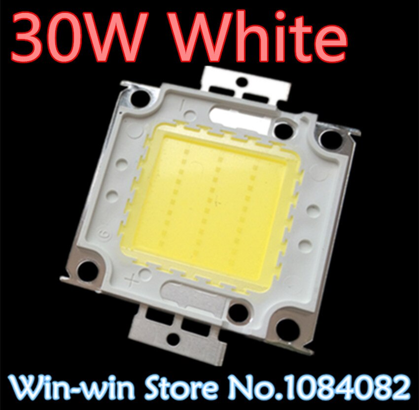 5 uds 30w led chip 30w blanco led chip Lámpara de alta potencia integrada cuenta blanco 900mA 32-34V 2400-2700LM 24 * 40mil Taiwan Huga Chips