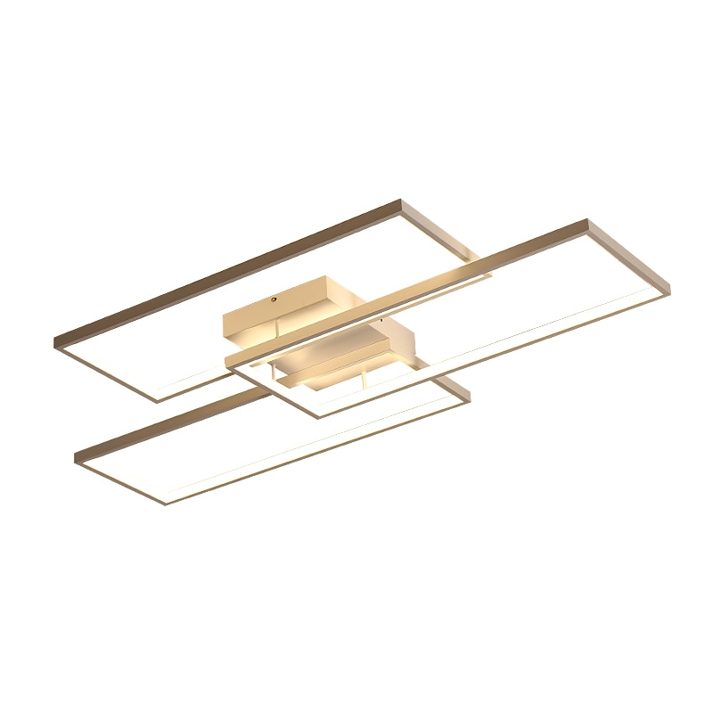 Rectangle Black/White Color Modern Led Ceiling Lights for living room bedroom 110V 220V deco Dimmable Ceiling Lamp Fixtures  - buy with discount