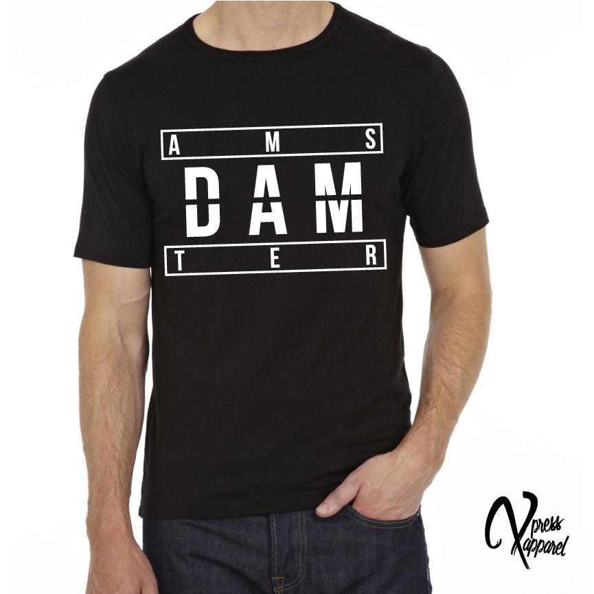 Camiseta estampada de AMSTERDAM, camiseta negra con gráfico para hombre, camiseta Unisex...
