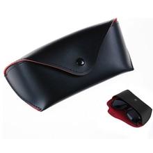 1PCS Cosmetic Bag Durable PU Leather Glasses Case Sunglasses Eyeglasses Storage Holder Box Bag cases 15.5*4.2cm