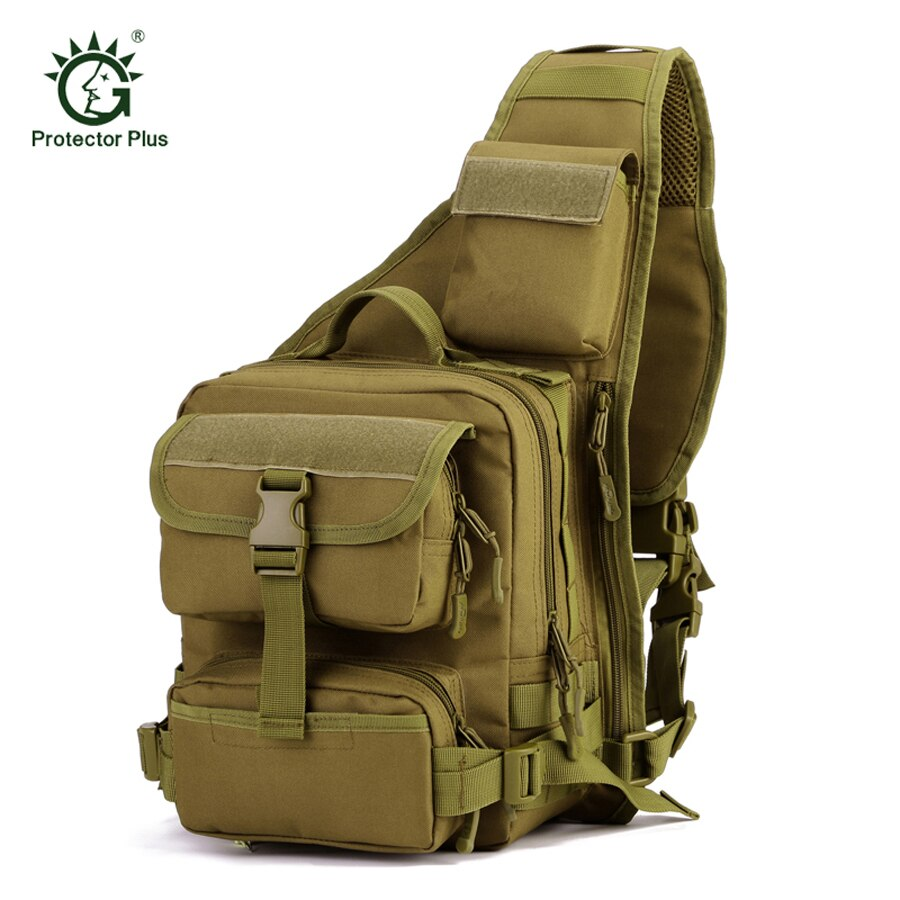 Mochila de nailon de 1000D de alta calidad para hombres, táctica, militar, de viaje, para montar, cruzado, bandolera, bandolera, bolsa impermeable para el pecho