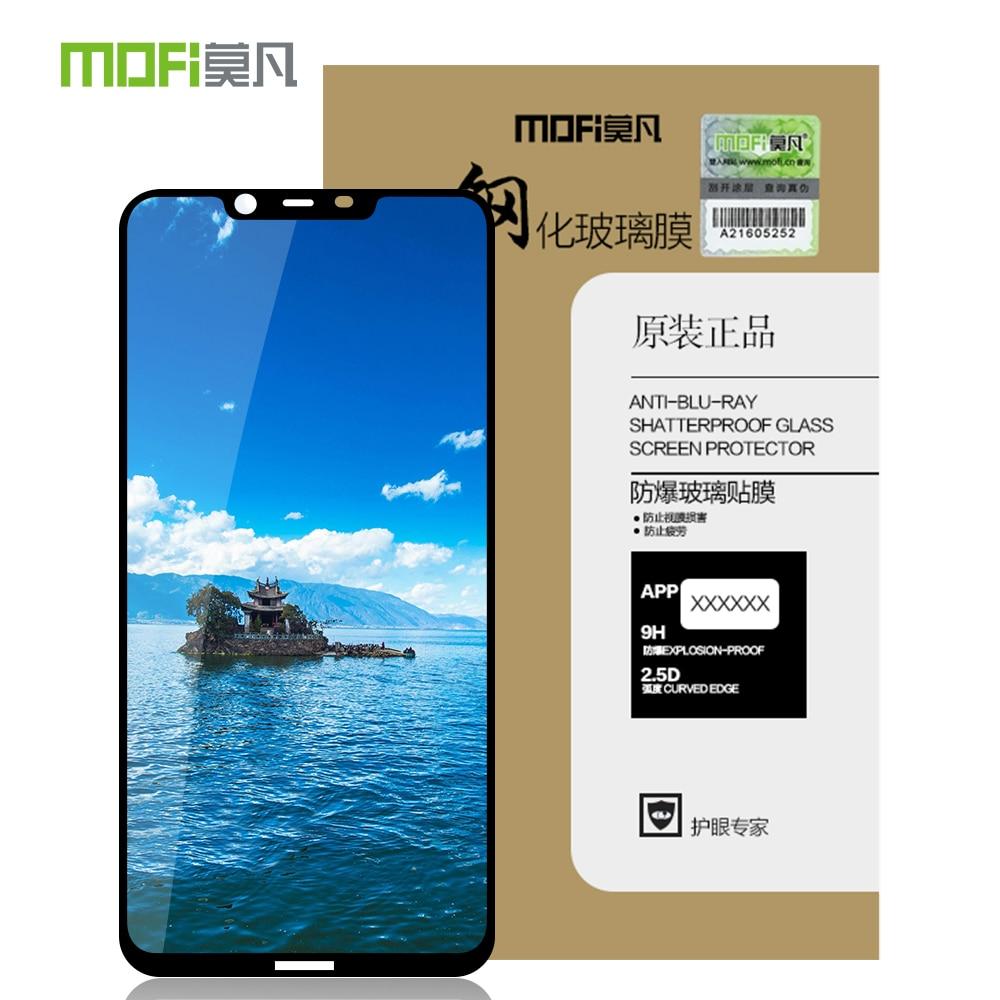 MOFI para Nokia X7 vidrio templado para Nokia 8,1 Protector de pantalla cobertura completa LCD película protectora de vidrio Protector de pantalla a prueba de golpes