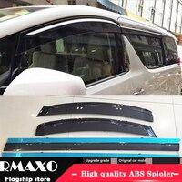 For Toyota alphard Plastic Window Visor 2015-2017 Vent Shades Sun Rain Deflector Guard For Toyota alphard 4PCS/SET