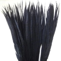 ems free shipping 50pcslot pheasant tail feather 35 40 90 100cm black lady amherst pheasant tails pheasant feather