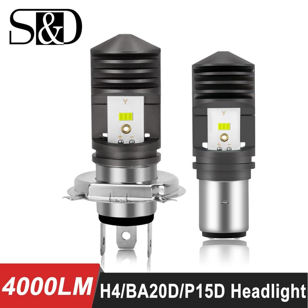 4000LM BA20D LED H6 P15D HS1 H4 светодиодные лампы для фар мотоцикла CSP чипы мотоцикл hi/lo Дальний свет мото фары Ebike Автомобильный свет