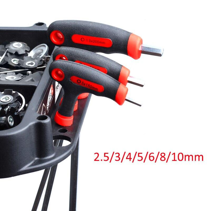 RISK 2,5/3/4/5/6/8/10mm herramientas de Reparación de bicicletas de llave hexagonal de bicicleta MTB llave Allen llave de Pedal para V Pedal de freno auriculares vástagos tornillos