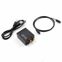TTKK Digital to Analog Audio Converter Amplifier Decoder Optical Fiber Coaxial Signal to Analog Stereo Audio Adapter 3.5M