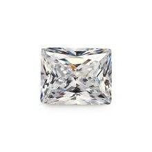 50 pièces 3x4 ~ 13x18mm Rectangle forme princesse coupe blanc lâche cz pierre synthétique gemmes cubique zircone pour pierre de bijoux à bricoler soi-même