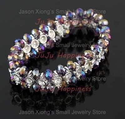 Bulk Wholesale Multicolor Crystal Jewelry Bracelets Beads Bracelets gcb1386