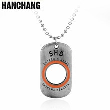 Jeu Fans bijoux la Division Edition Collector SHD lettre pendentif collier chien Tag perle chaîne collier