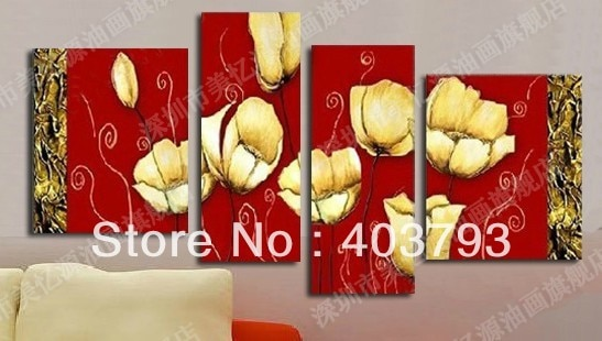 MODERN ABSTRACT HUGE WALL ART OIL PAINTING ON CANVAS wedding  flower  free shipping