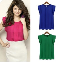 2020 neue heiße Solide T Shirt Frauen Shirts 100% Chiffon O Hals Kurzarm Sommer T-Shirt Tops Casual T-shirt red blau grün q60