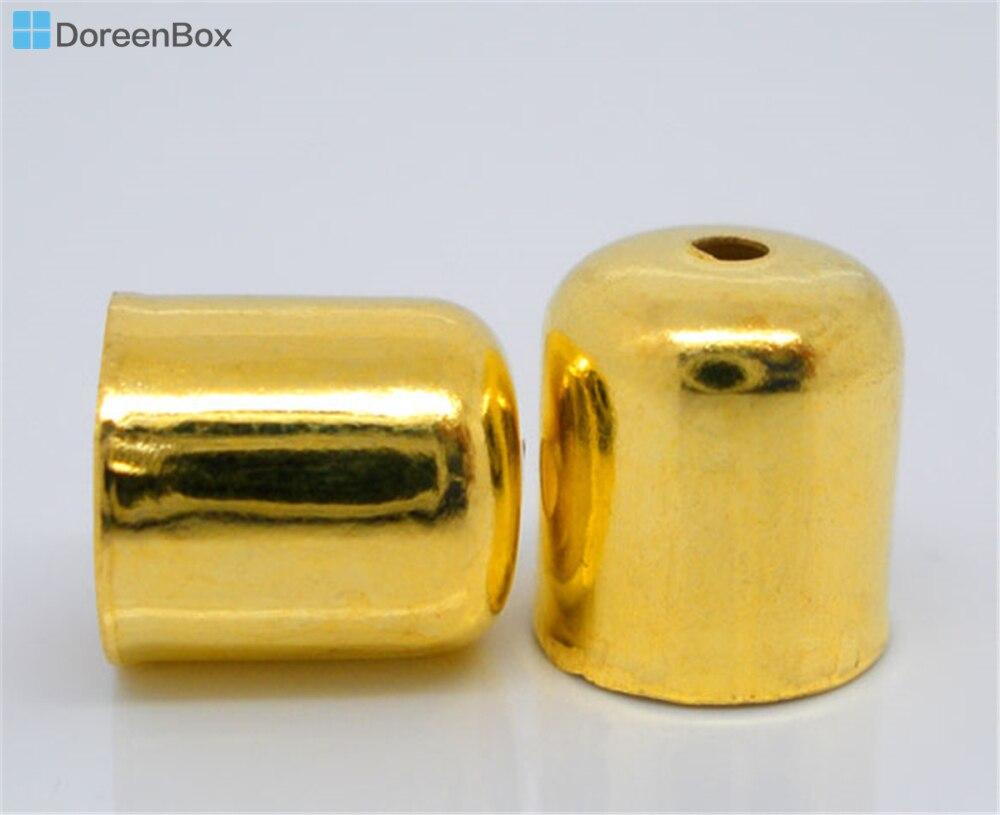 Doreen Box Mooie 200Pcs Goud Kleur Blunt Ketting End Tip Bead Caps 8X7Mm (Fit 6mm) (B04337)