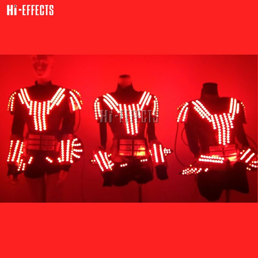 Boże narodzenie LED kostium kobiety ubrania Flash Luminous świecące LED światła Robot garnitury na etapie klub nocny DJ strona dekoracji