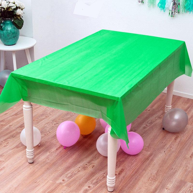 Mantel de recuerdo para niños de Color sólido verde para fiesta de eventos, decoración para Baby Shower, mapas de boda, mantel de mesa de feliz cumpleaños, 1 Uds.