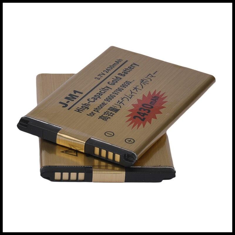 High Capacity Golden JM1 Battery For Blackberry Bold Touch 9900 9930 9850 9860 9790 battery J-M1 enlarge