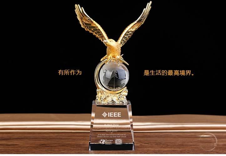 Personalizado regalo de negocios-25 CM TOP COOL Home office efficious Mascot dinero dibujo águila buitre lanneret estatua de cristal