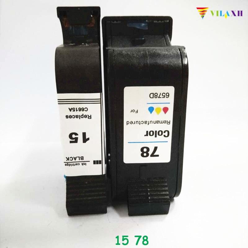 Vilaxh 15 78 78A cartucho de tinta C6615A C6578A repuesto para HP Photosmart 1215 Deskjet serie 810c 812c 840c 845c 920c Officejet K80