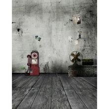 TR 8x8FT Brick Wall Wooden Floor Custom Children Kid Photography Background Retro Wall Red Telephone Booth Studio Backdrop Vinyl