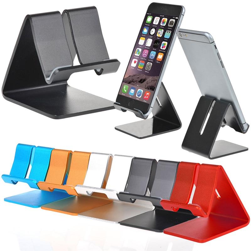 Universal aluminio Metal teléfono móvil tableta PC escritorio soporte para iPhone 7/7plus 6s 6 5S 5 teléfono móvil para libros versión Kindle