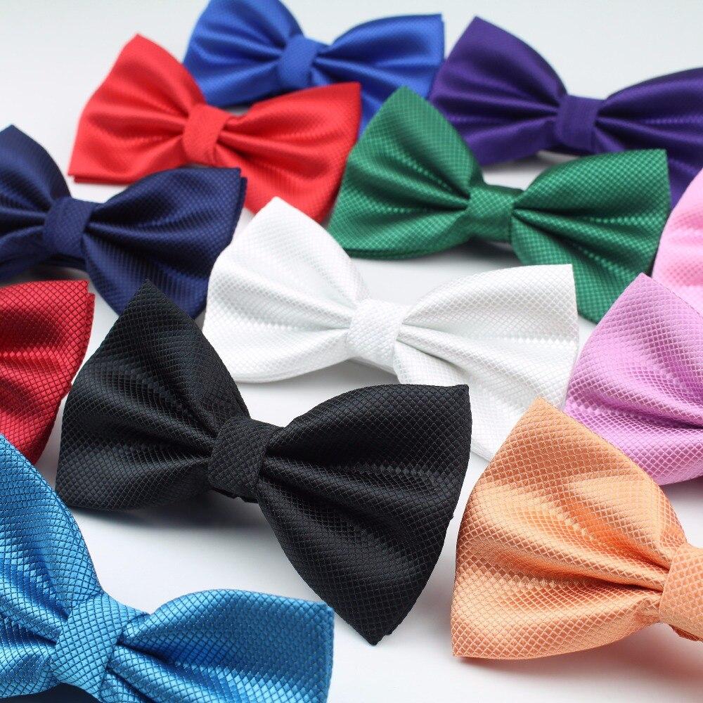 Pajaritas de moda sólidas clásicas para hombre, corbata a cuadros colorida para hombre, corbata de lazo para boda con mariposa para hombre