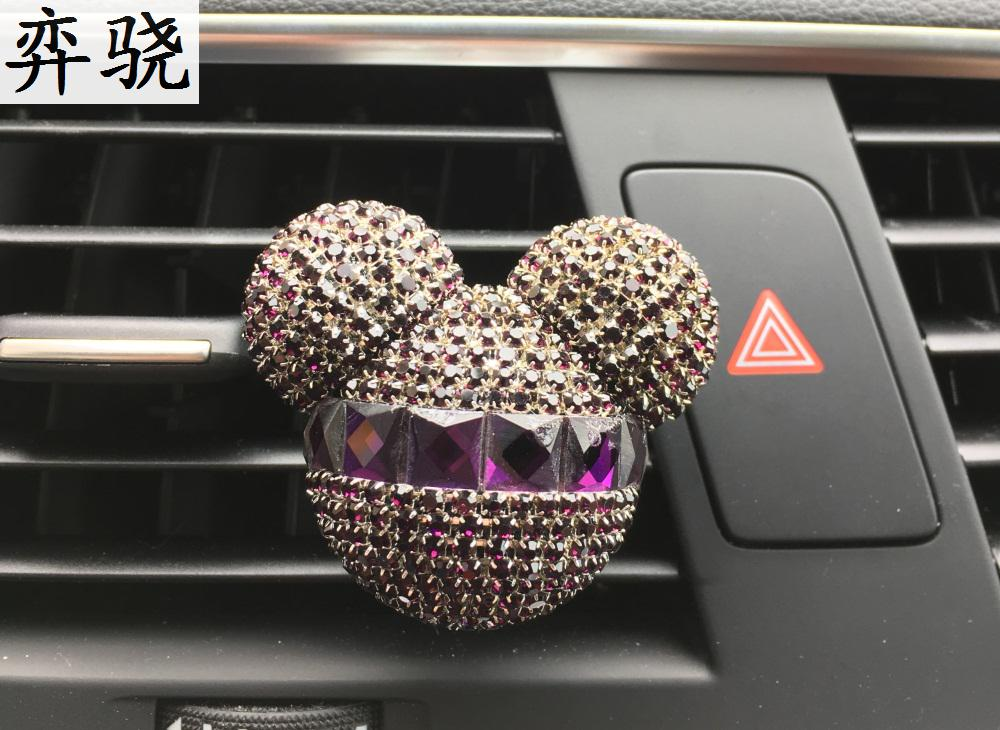 NEW Colorful Rhinestone Air Exquisite Car Perfume Mounted Drilling Perfume Air Conditioner Car Air Freshener styling Clip
