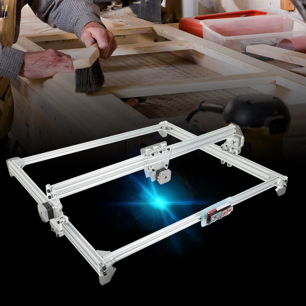 50x65cm 4000mw 3D Laser CNC Engraving Machine DC 12V DIY Engraver Desktop Wood Router Cutter Cutting Printer Laser Goggles