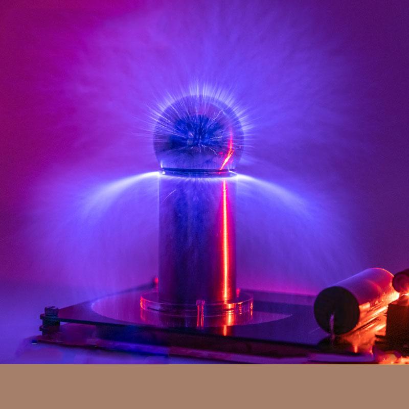 Mini fuente de arco Artificial Ultra bobina de Tesla bocina de plasma equipo de altavoces luces vacías Kit electrónico ciencia juguete educativo