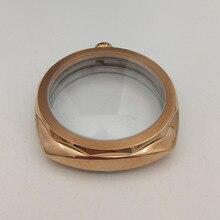 Acier inoxydable 9085 poli montre or boîtier de montre 47mm adapté pour eta6497 / 6498 cristal minéral mouvement P47-16