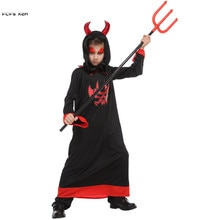 Garçons Halloween enfer diable démon Costumes enfants enfants Fiend Azrael mort Cosplay carnaval pourim pâques mascarade robe de fête