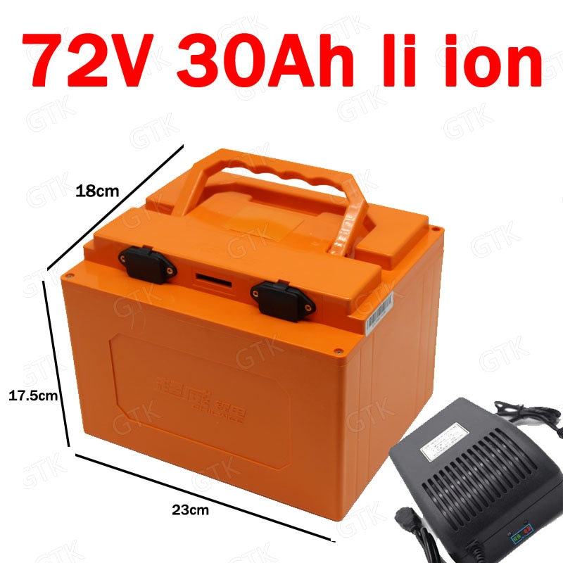 72v 30ah batería de litio 72v 30ah batería de iones vehículos para bicicleta eléctrica 3000w carrito de Golf 5000w triciclo scooters + cargador