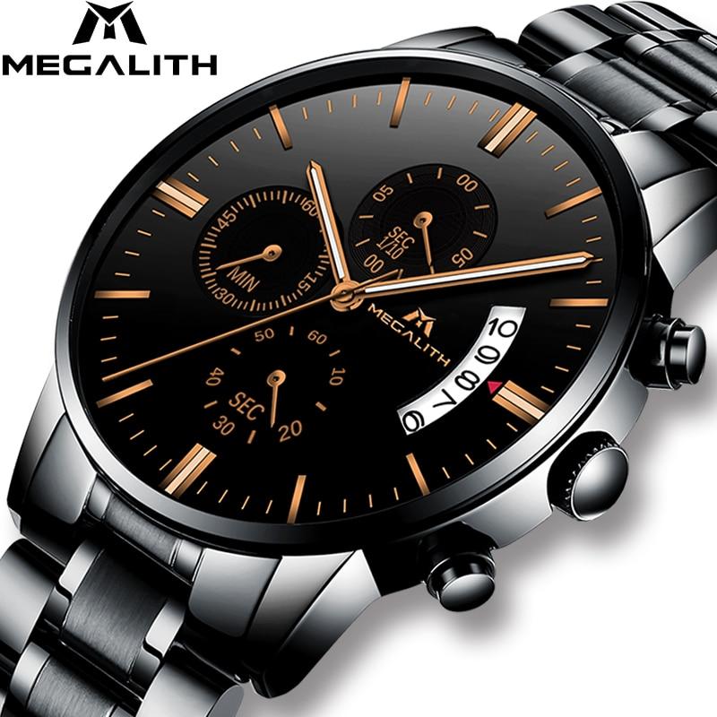 Часы MEGALITH мужские, водонепроницаемые, армейские, спортивные