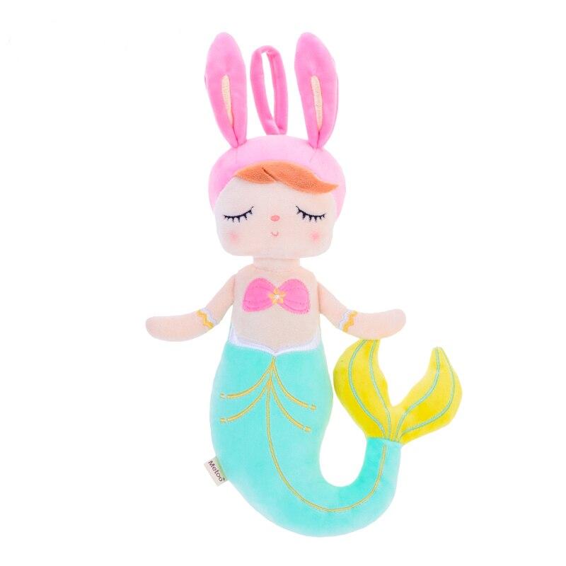 Nuevo estilo Metoo metoo juguetes de peluche Angela Mermaid fish Dolls con Box Dreaming Girl peluche conejo de peluche juguetes de regalo para niños