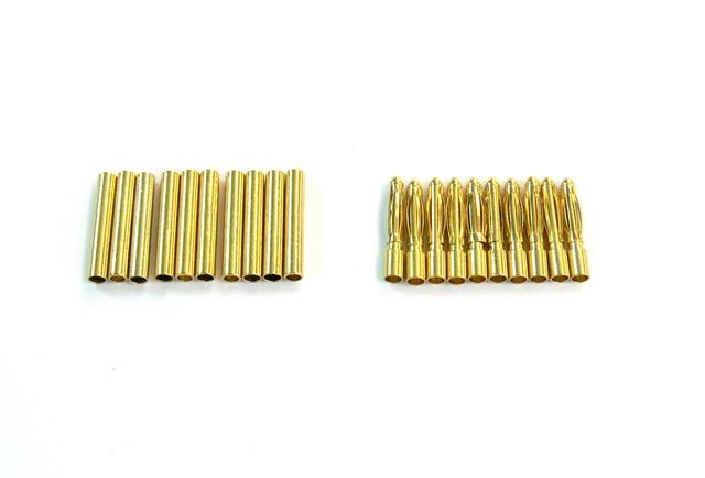 200 Uds conector tipo Banana chapado en oro 2,0mm macho y hembra RC Heli batería ESC herramienta de Motor envío gratuito