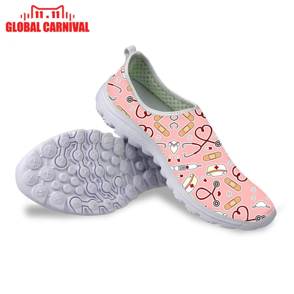 Cute Nurse Love rosa púrpura diálisis herramientas de enfermería tema eclectic_flowers Baby ER Nurse Navy Zapatillas de correr zapatos planos