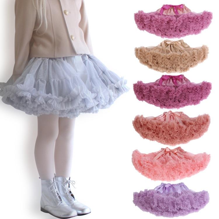 Tutu dress for girls Ballet Kids Baby Girls Clothes Tulle Party TUTU Dancing Skirts Mini Saia tutu infantil menina falda 2019